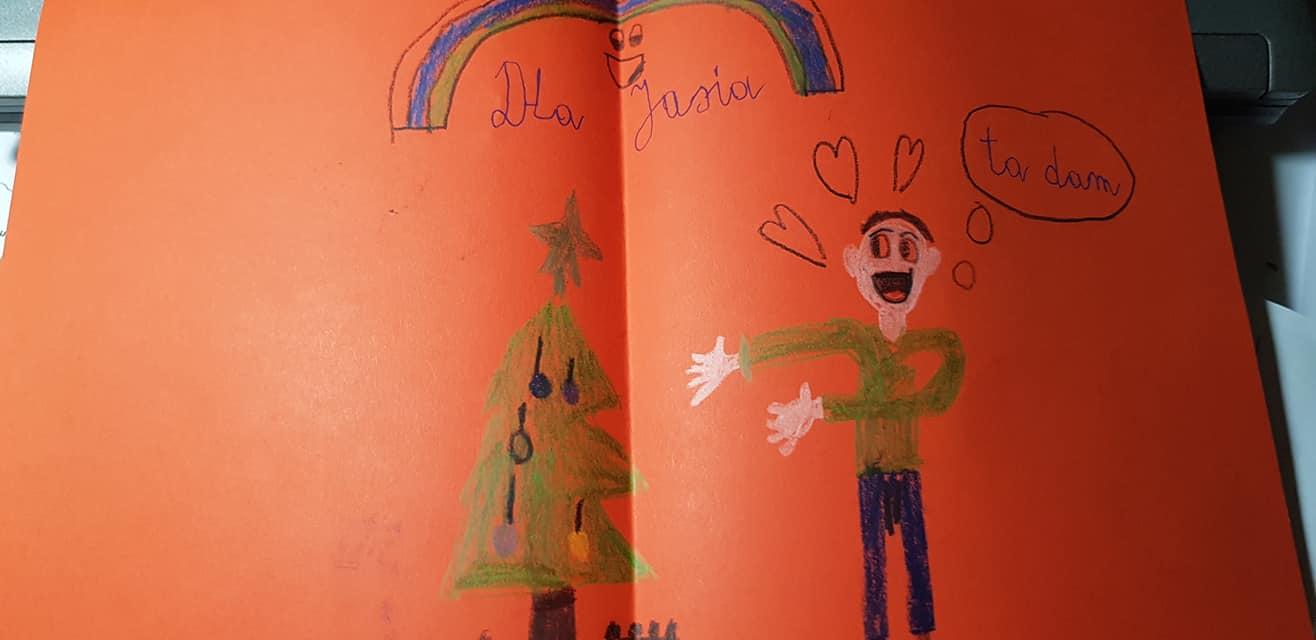 Dom Kominek Kartki I Planowanie świąt Wszyscy Za Jaśka